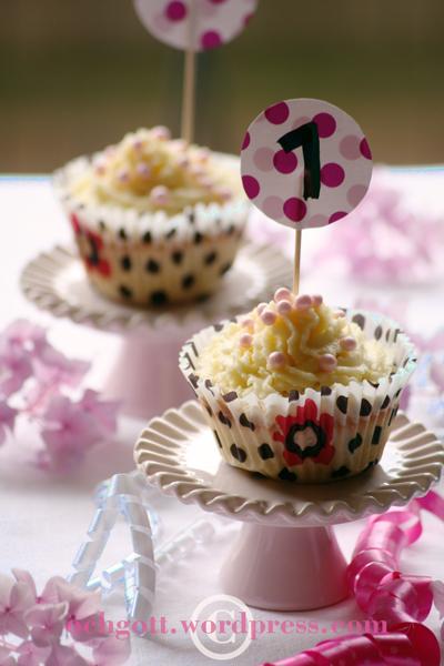 1-års-cupcakes