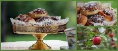 Kanelbullar fyllda med mandel och äpple