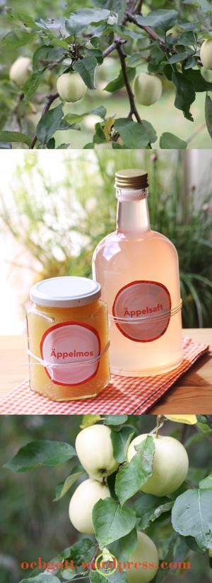 Äpplemos och äppelsaft