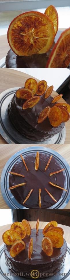Chokladtårta med apelsinfyllning