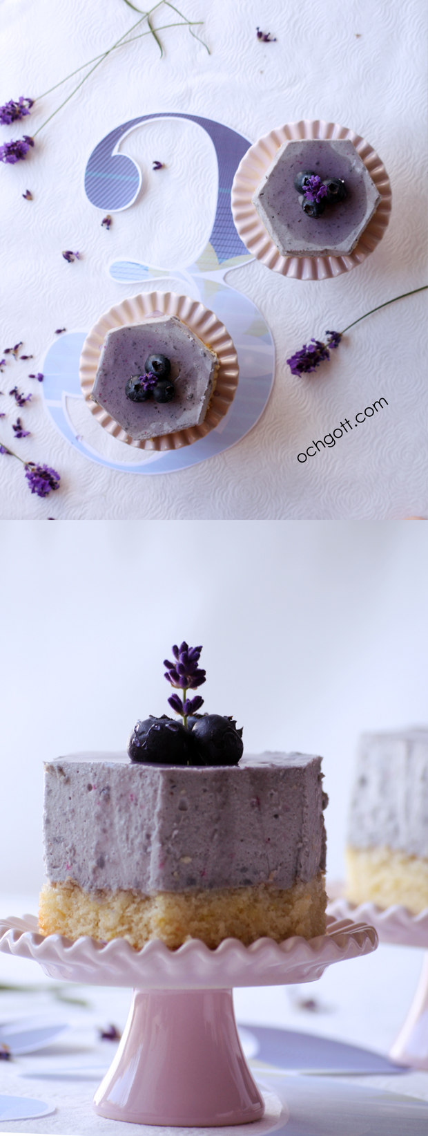 Blåbär- och lavendelbakelse