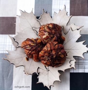 Chokladbullar med apelsin- och mandelfyllning
