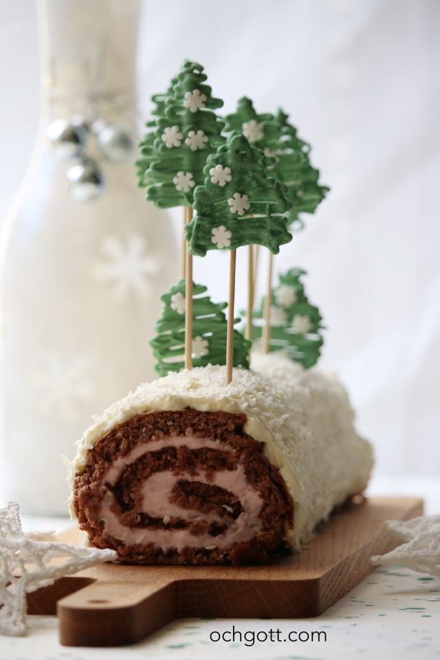 Julstubbe med polkagrisfyllning - Foto: Britt-Marie Knutsson