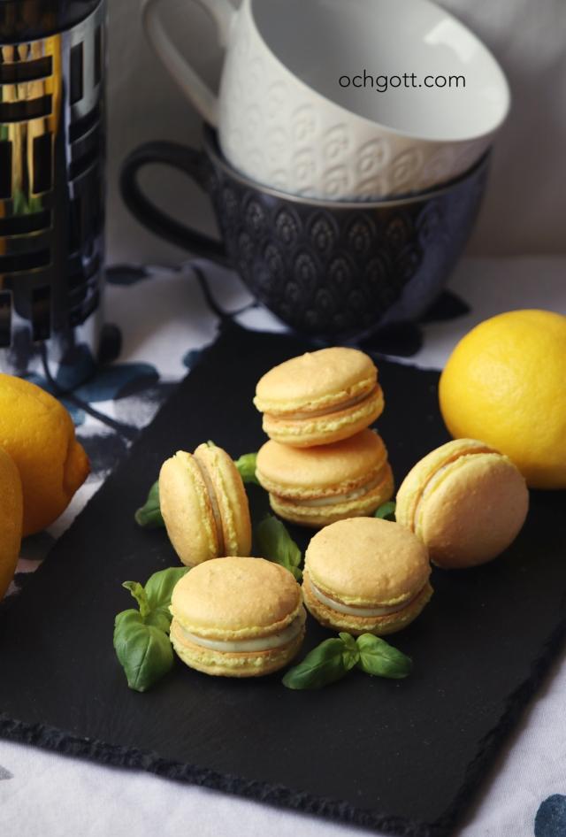 Citron- och basilikamacaroner - Foto: Britt-Marie Knutsson