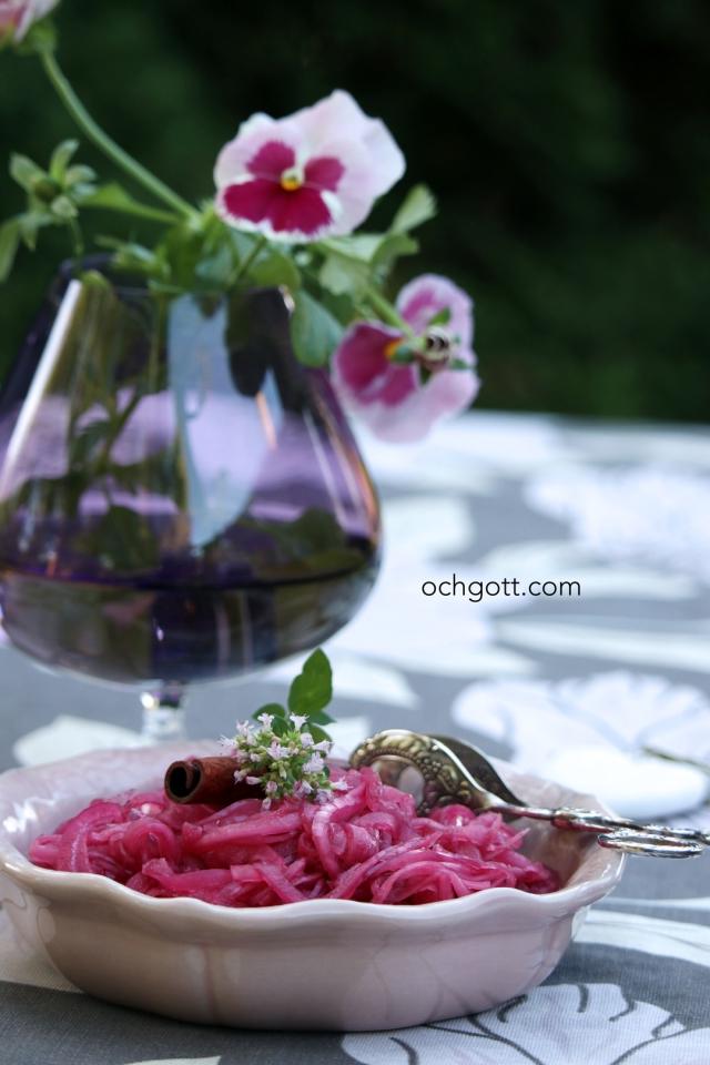 Picklad rödlök med kanel - Foto: Britt-Marie Knutsson