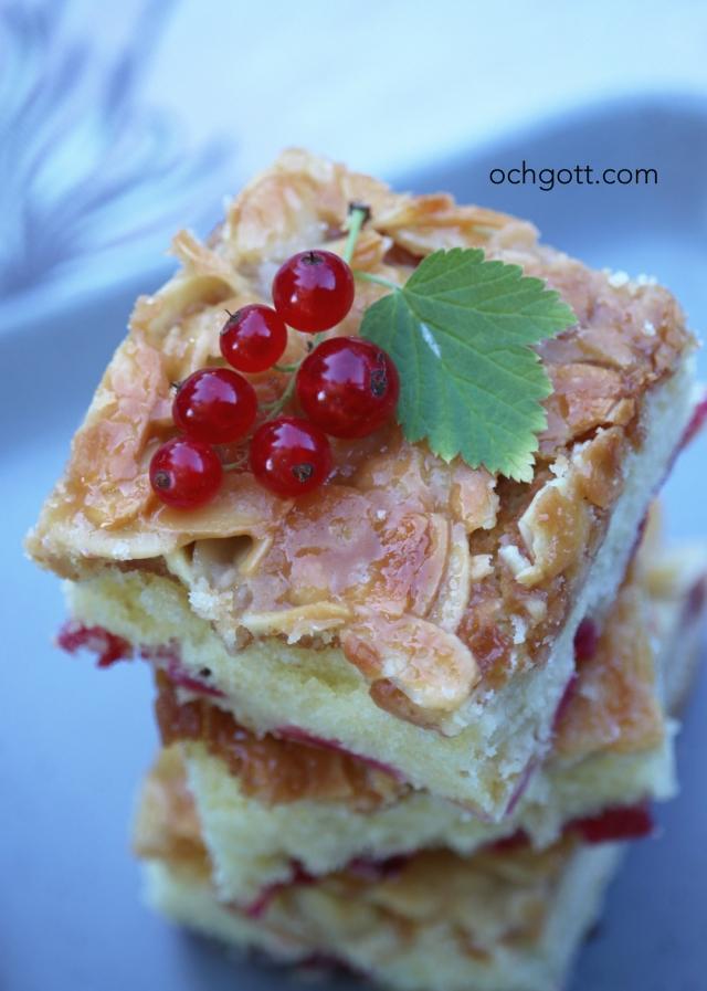 Toscakaka med röda vinbär - Foto: Britt-Marie Knutsson