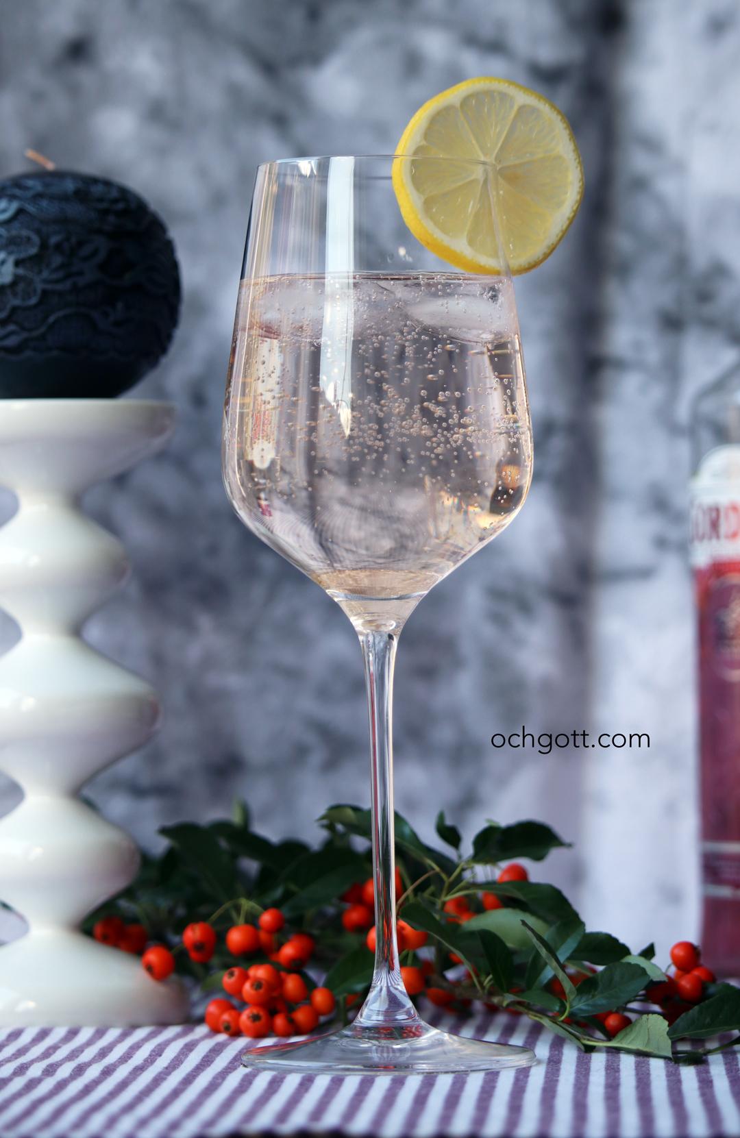 drink gin fläder ingefära