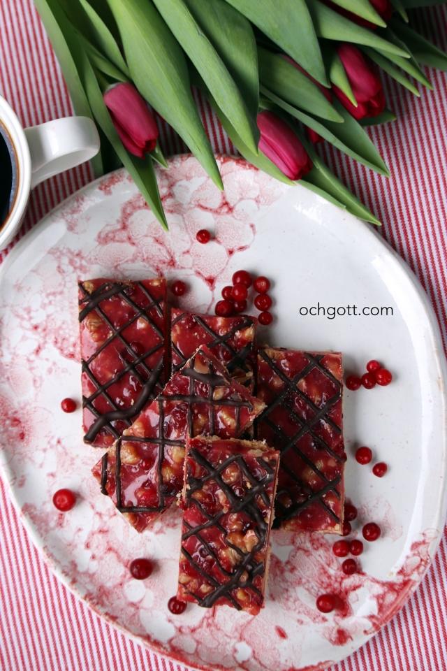 Lingonberry turtle bar - Foto: Britt-Marie Knutsson