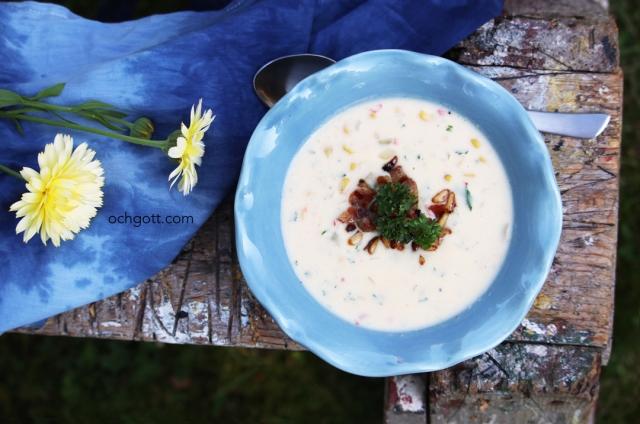 Majssoppa med baconströssel - Foto: Britt-Marie Knutsson
